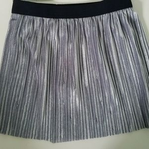 Gymboree NEW girls silver micro pleat skirt XS (4)
